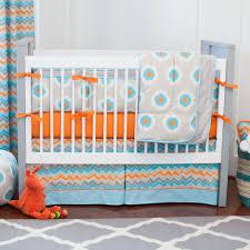 luxurious gray and orange ikat dot crib bedding orange crib bedding
