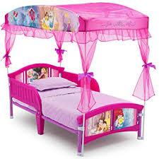 Amazon.com : Delta Children Canopy Toddler Bed, Disney Princess : Baby
