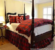 plaid bedding tartan for winter queen size sets