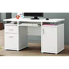 contemporary desks for office. Coaster Home Furnishings Modern Contemporary 2 Drawer 1 Cabinet Office Desk With Keyboard Tray White Desks For