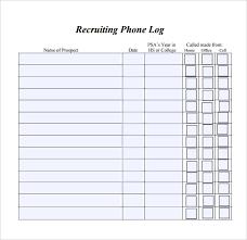 Free Phone Log Template Under Fontanacountryinn Com