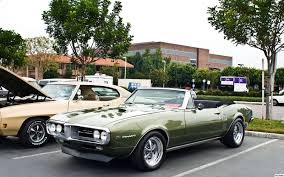 1967 Pontiac Firebird convertible with top down - Verdoro Green ...