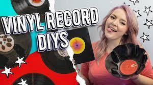 using vinyl records diy bowl notebook