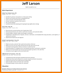 13 Resumes Examples For Cashier Job Apply Form