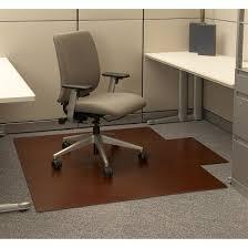 anji mountain bamboo rug co bamboo roll up office chair mat dark cherry