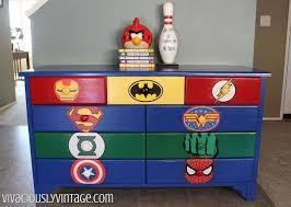 colorful painted furniture. Simple Colorful Kid S Superhero Diy Dresser Makeover Bedroom Ideas Painted Furniture Intended Colorful Painted Furniture
