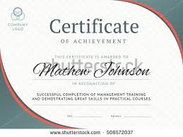 Horizontal Certificate Template Design Download Free Vector Art