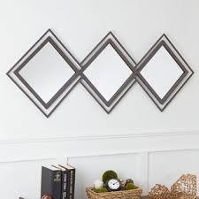 30 x 40 mirror. Milan Double Diamond Trio Wall Mirror. By Winston Porter 30 X 40 Mirror
