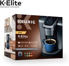 Four or five bucks is all that it takes to have your craving sorted at the coffee shop around the block. Keurig K Elite Coffee Maker Single Serve K Cup Pod Coffee Brewer With Iced Coffee Capability Brushed Silver Walmart Com Walmart Com
