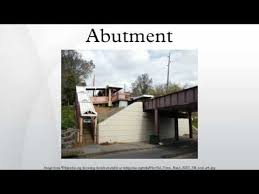 Abutment Definition Abutment Youtube