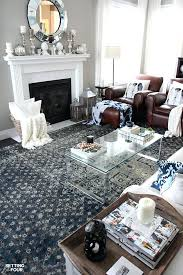 blue rug living room gray blue and cream are beautiful colors to accent brown leather furniture blue rug