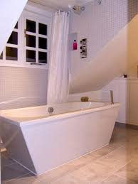 free standing bath with shower enclosure. free standing bath and dormer shower with enclosure n