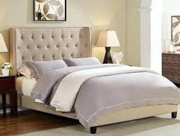 tufted upholstered sleigh bed. Delighful Upholstered Beige Tufted Bed Queen Q Upholstered Sleigh  Intended Tufted Upholstered Sleigh Bed