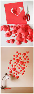 make a wall of paper hearts template for download included  on 3d paper heart wall art with make a wall of paper hearts template for download included