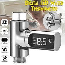 Loskii <b>LW</b>-<b>101</b> Home LED Display Passive Flow Water Temperture ...