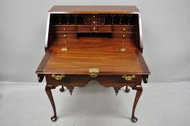 henkel harris mahogany queen anne style slant front secretary desk for at 1stdibs