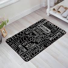 unique design white script wele black doormat entrance mat indoor outdoor door mats floor mat rug mat in rug from home garden on aliexpress