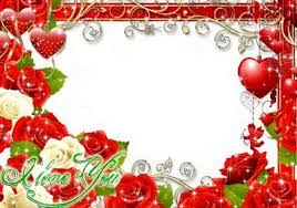 festive png psd frame valentine s day i love you