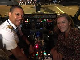 """Sasha Johnson on Twitter: """"So proud to fly this morning with Captain David  Simpson, an accomplished @united colleague and most importantly a fellow  1994 Montgomery Blair Blazer! Thank you for the safe"""