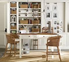 home office pottery barn. White And Wood Combo Home Office Pottery Barn F