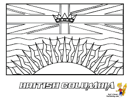 Flag Of Manitoba Coloring Page Free Printable Pages And Canadian