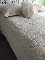 Latte King Bed Madeira Cotton Hamptons Provincial Coverlet / Quilt ... & Latte King Bed Madeira Cotton Hamptons Provincial Coverlet / Quilt Bedspread Adamdwight.com