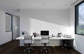 wall mounted home office. Home Office Design Ideas For The Simple Modern Look: White Wall Mounted Desk Highlight O