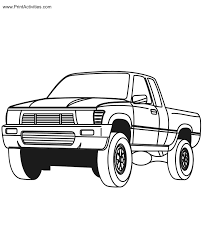 last chance pickup truck coloring pages pick up page free