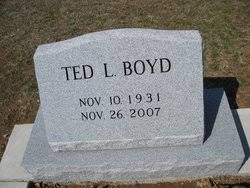 Ted Lee Boyd (1931-2007) - Find A Grave Memorial