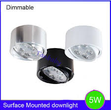 5w dimmable led ceiling light surface mounted indoor led lights ac110v ac220v luminaria led fixture spot down light dimmable