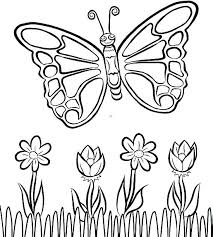 Printable Coloring Pages Of Flowers And Butterflies Free Printable Coloring Pages Butterflies Lookinglasstudio Co