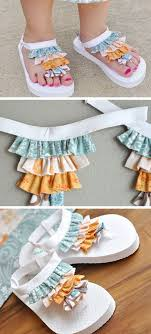 37 awesome diy summer projects ruffle flip flops sandals