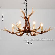 2018 new 6 antler deer chandeliers six candelabra ceiling lights rustic style lighting home decor fixtures