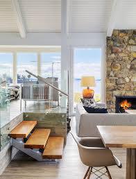 modern beach house living. Midcentury Modern Beach House Retreat On Pender Island Designed By Johnson McLeod Design Living
