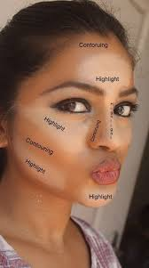 how to contour your face like kim kardashian apply to these areas and blend with a sponge like