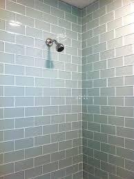 glass subway tile shower tile shower 7 white glass subway tile shower