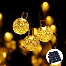 qedertek dual solar battery led string lights 72ft 200 led landscape string lights for indoor outdoor garden patio fence and holiday decorations warm