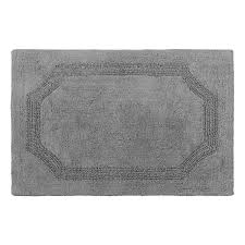 laura ashley reversible charcoal 21 in x 34 in cotton bath mat