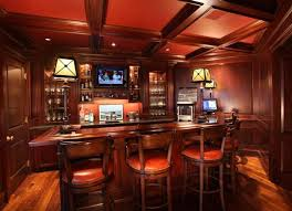Bar Designs Ideas traditional home bar design with tall bar stools soft lighting and tv