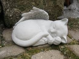 cat statue angel cat cat grave marker