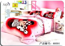 mouse double duvet bedding set full size bedroom red and mickey minnie bed sheets doub