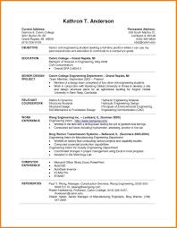 College Resume Sample For High School Senior Example Of Descriptive