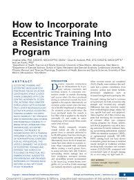 Nsca Program Design Pdf Pdf How To Incorporate Eccentric Training Into A Resistance