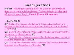 the labour government and the welfare state ppt 12 timed