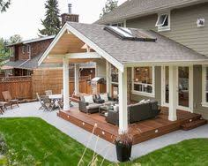 Saving ideas for patio that extends beyond covered area. Something similar  for the grilling porch. Traditional Patio Covered Patio Design, Pictures,  ...