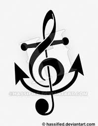 treblecleff treble clef anchor by hassified on deviantart