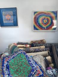 john miller believes he has the largest collection of rag rugs in east anglia picture