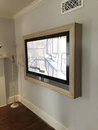 Television Frame Design Five Steps To Build A Frame For A Wall Mounted Tv Bedroom