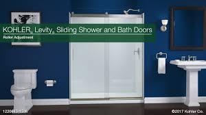 roller adjustment levity sliding shower and bath doors