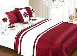 red and white duvet cover red quilt set and white bedding duvet cover sets pertaining to